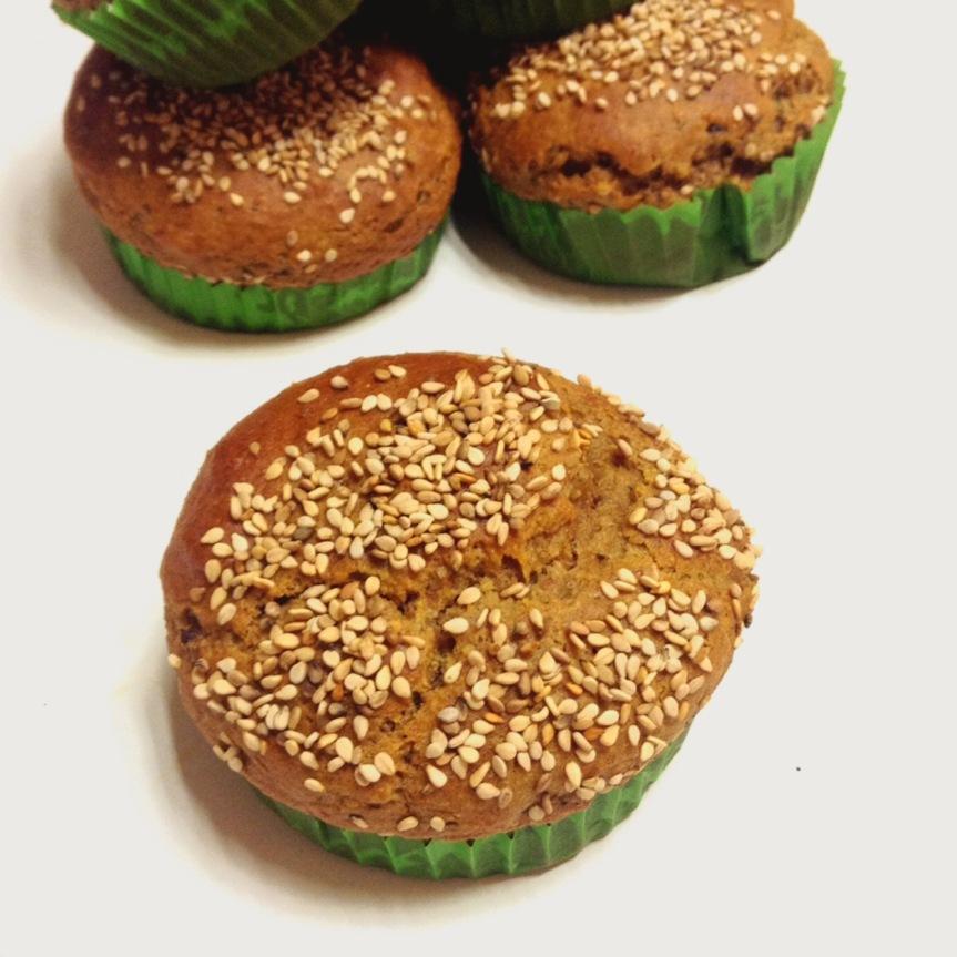 Muffins au sésame & figues sèches (sans sucre ajouté, sansgluten)