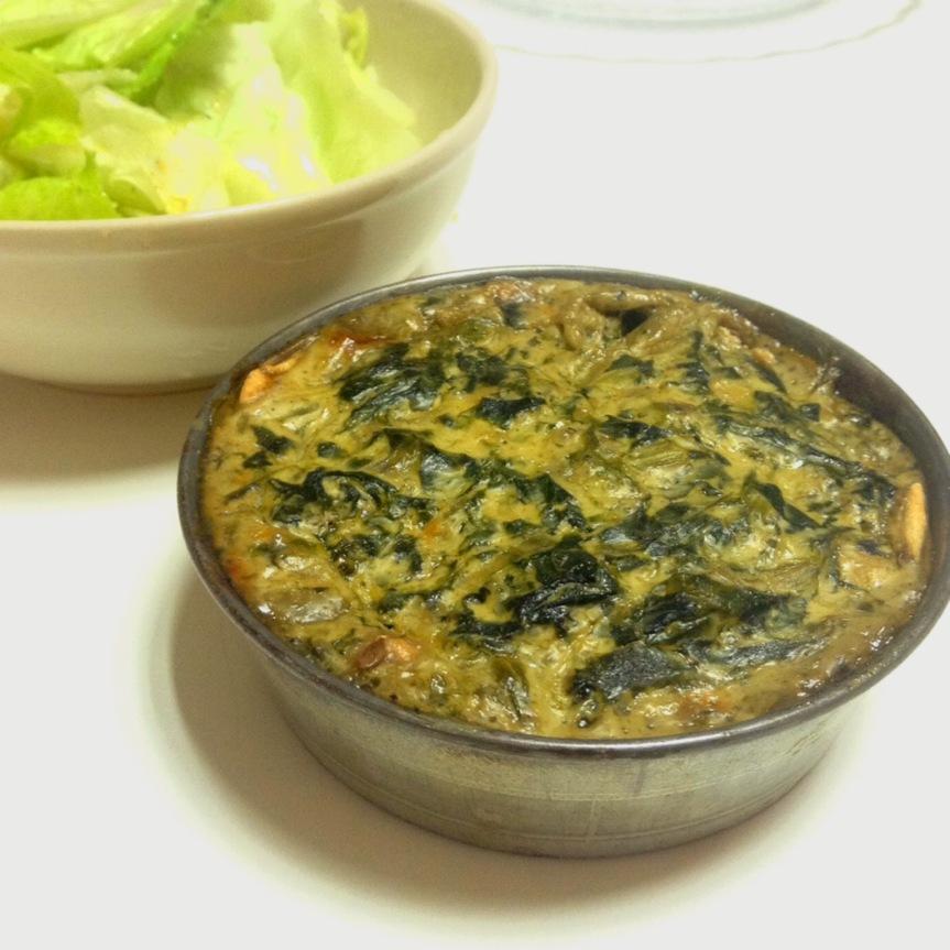 Tartelettes à la crème d'épinard (vegan, sansgluten)