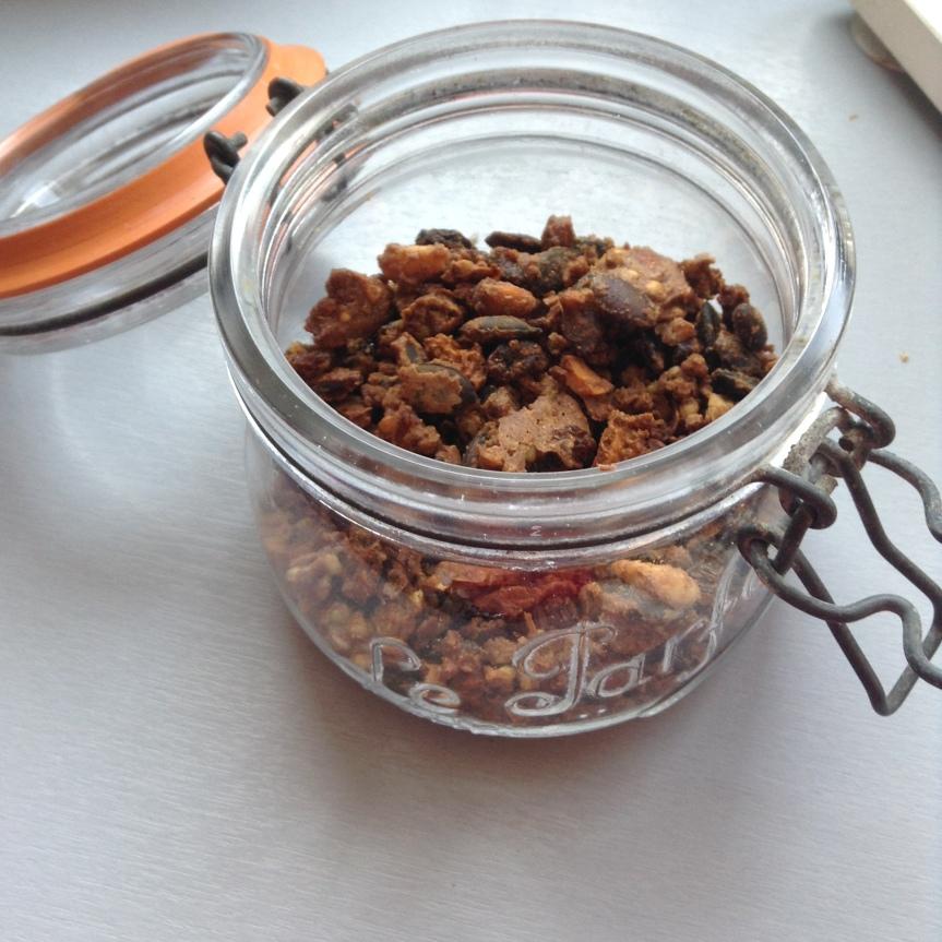 Granola de grains germés à lachâtaigne