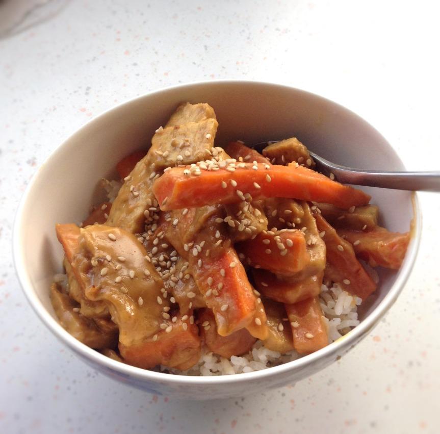 tempeh beurre de cacahuètes vegan sans gluten