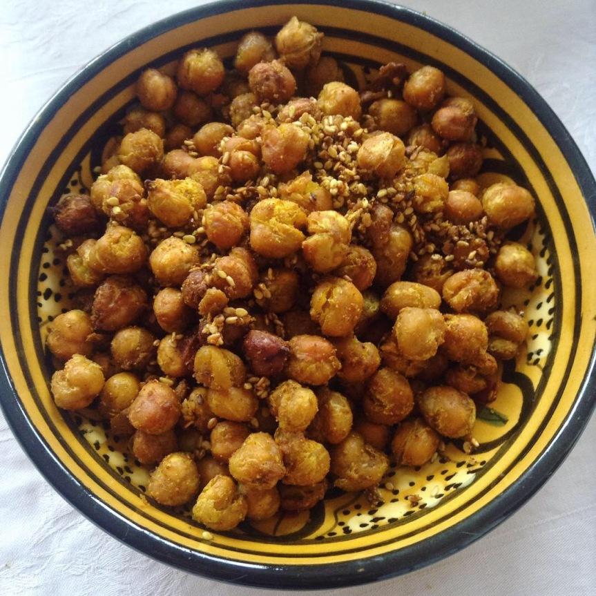 pois-chiches grillés aux épices apéro vegan