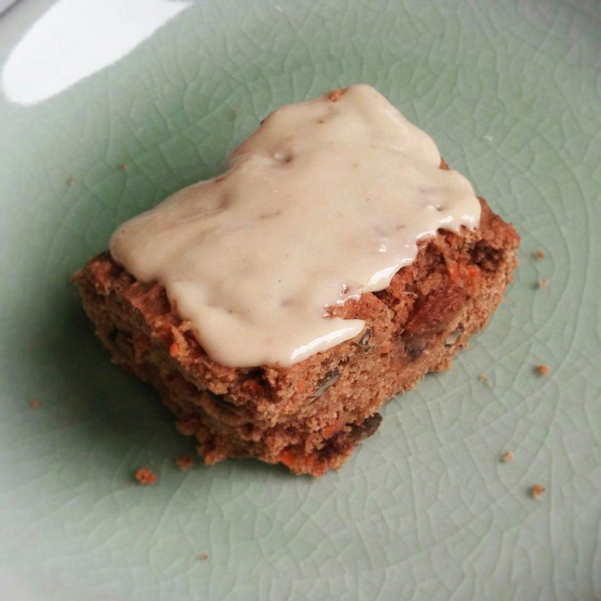 Carrot cake (vegan, sans gluten, sanssucre)
